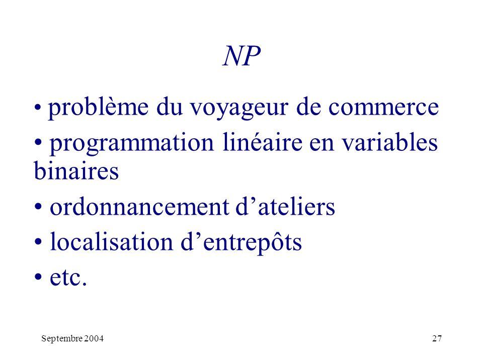 NP programmation linéaire en variables binaires