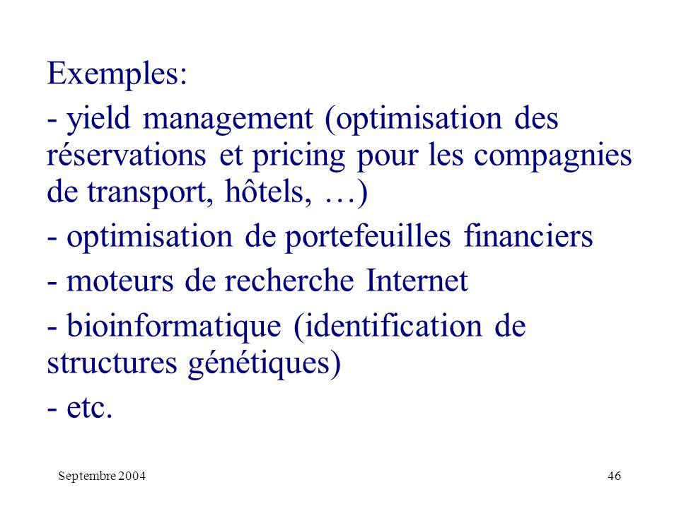 optimisation de portefeuilles financiers moteurs de recherche Internet