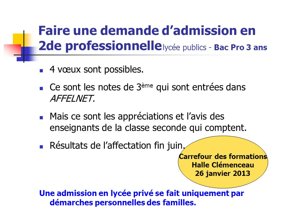 Carrefour des formations