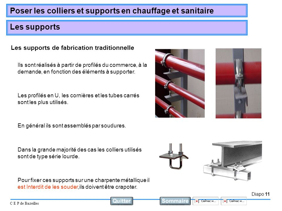 Les supports de fabrication traditionnelle