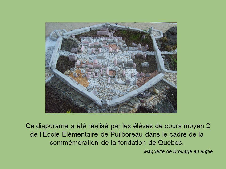 Ce diaporama a été réalisé par les élèves de cours moyen 2 de l'Ecole Elémentaire de Puilboreau dans le cadre de la commémoration de la fondation de Québec.