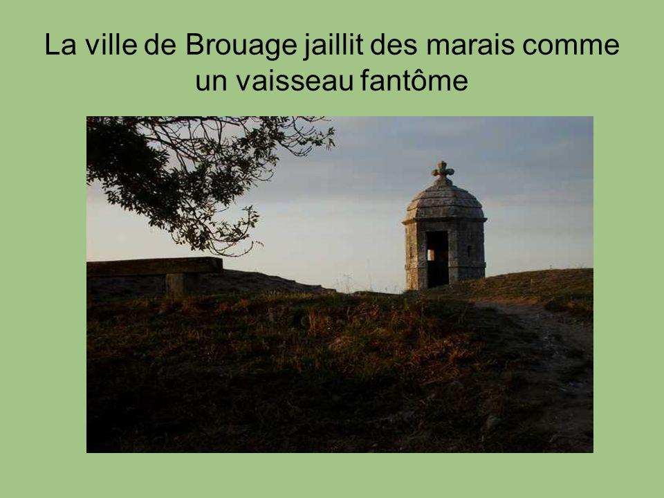 La ville de Brouage jaillit des marais comme un vaisseau fantôme