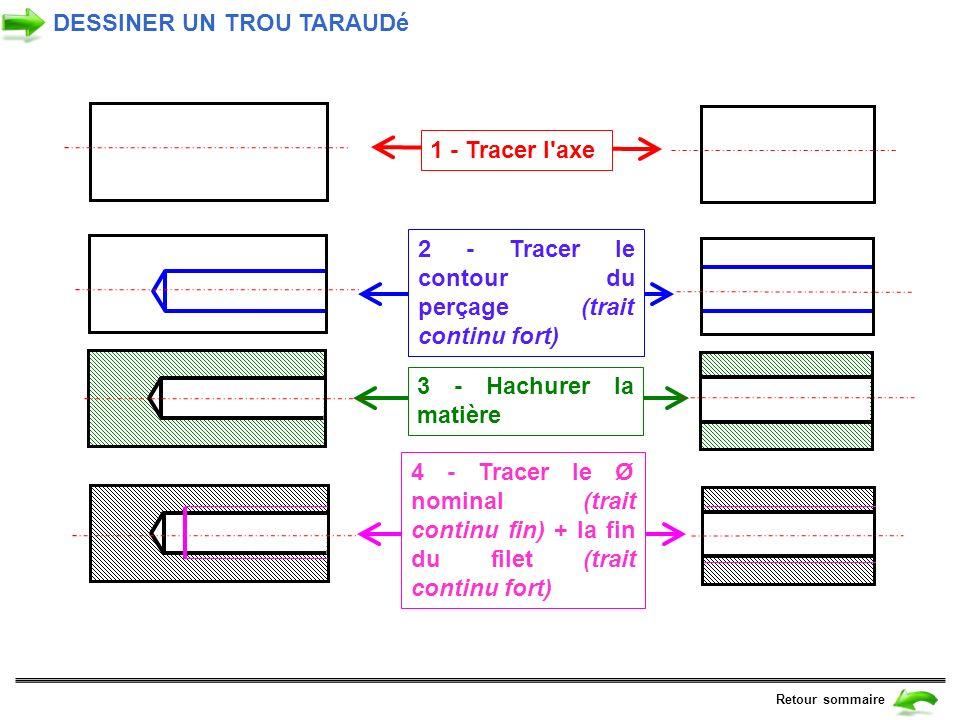 DESSINER UN TROU TARAUDé