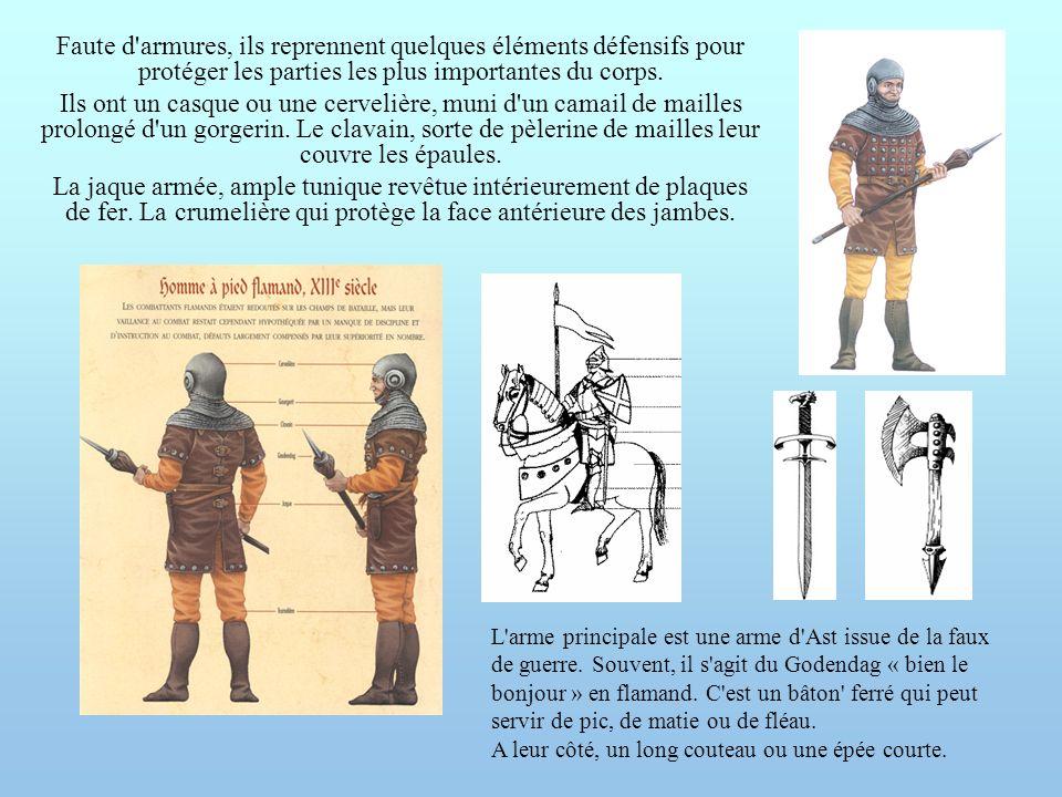 Faute d armures, ils reprennent quelques éléments défensifs pour protéger les parties les plus importantes du corps.