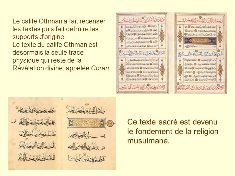 Ce texte sacré est devenu le fondement de la religion musulmane.
