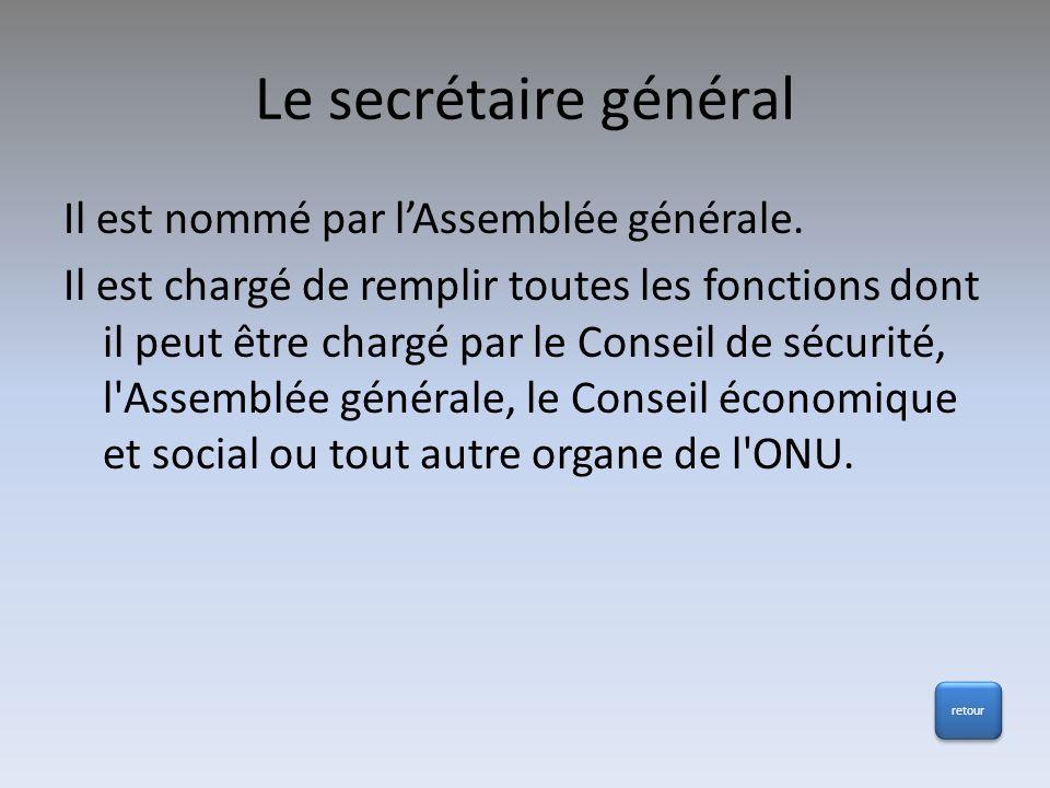 Le secrétaire général