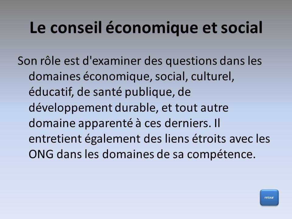 Le conseil économique et social