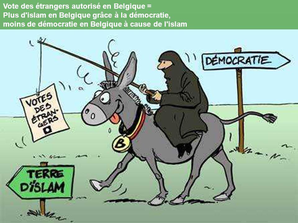 Vote des étrangers autorisé en Belgique =