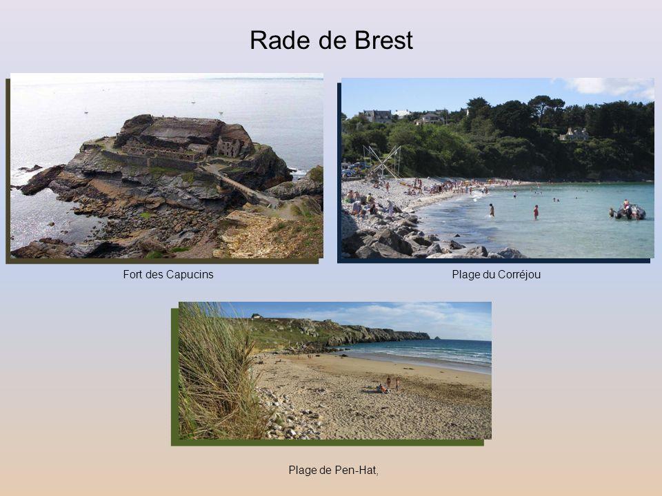 Rade de Brest Fort des Capucins Plage du Corréjou Plage de Pen-Hat,