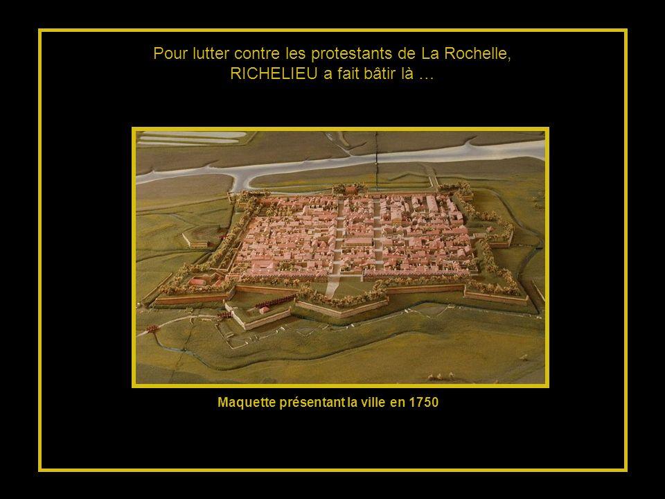 Maquette présentant la ville en 1750