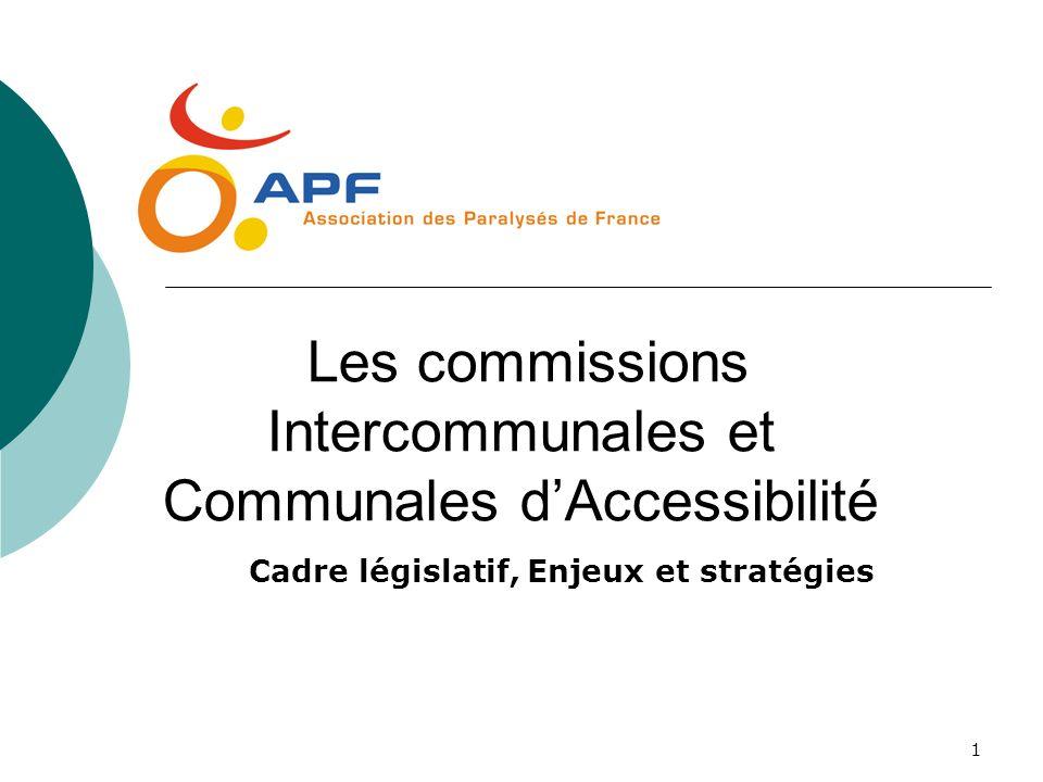 Les commissions Intercommunales et Communales d'Accessibilité