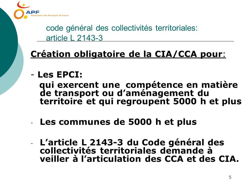 code général des collectivités territoriales: article L 2143-3
