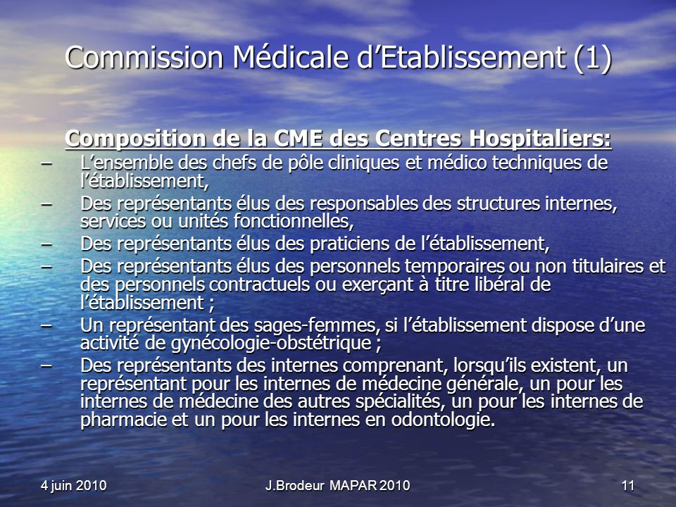 Commission Médicale d'Etablissement (1)