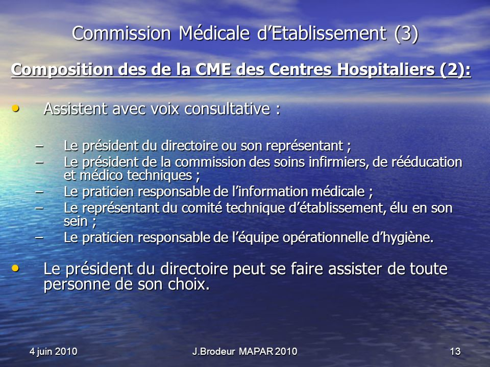 Commission Médicale d'Etablissement (3)