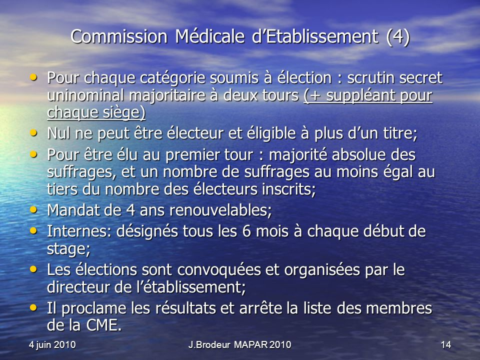 Commission Médicale d'Etablissement (4)