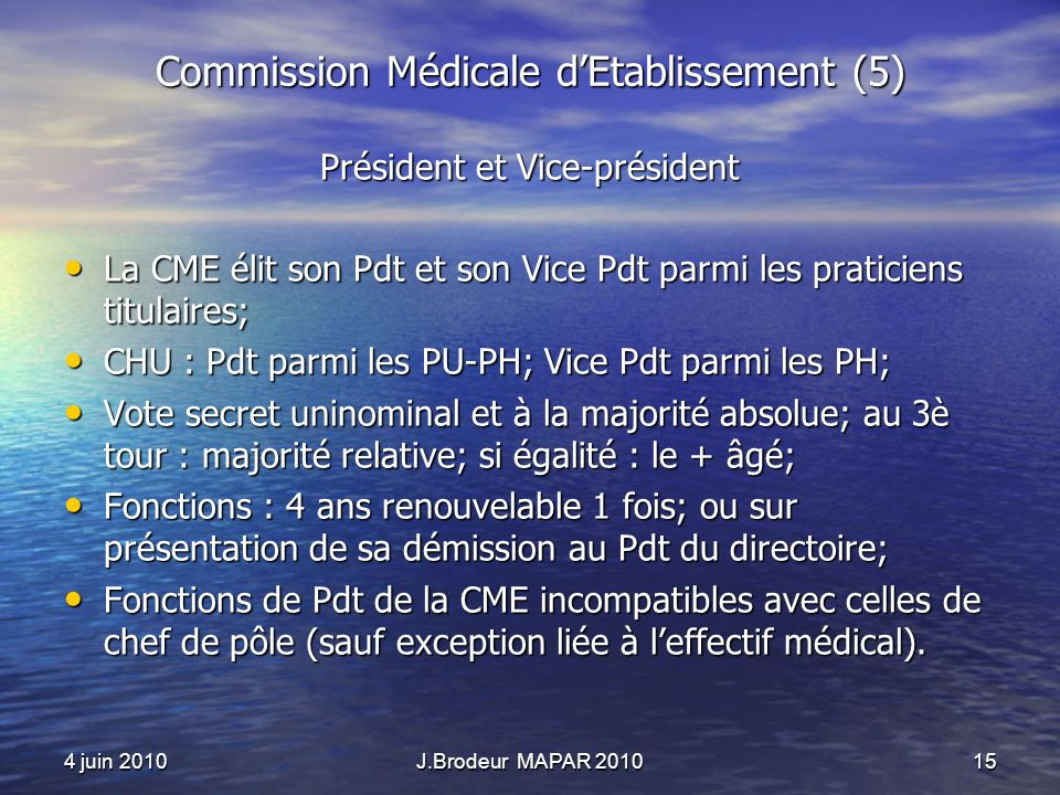 Commission Médicale d'Etablissement (5)