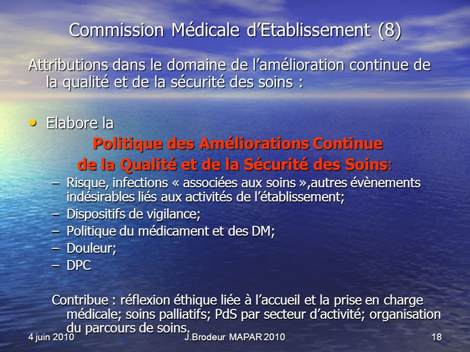 Commission Médicale d'Etablissement (8)