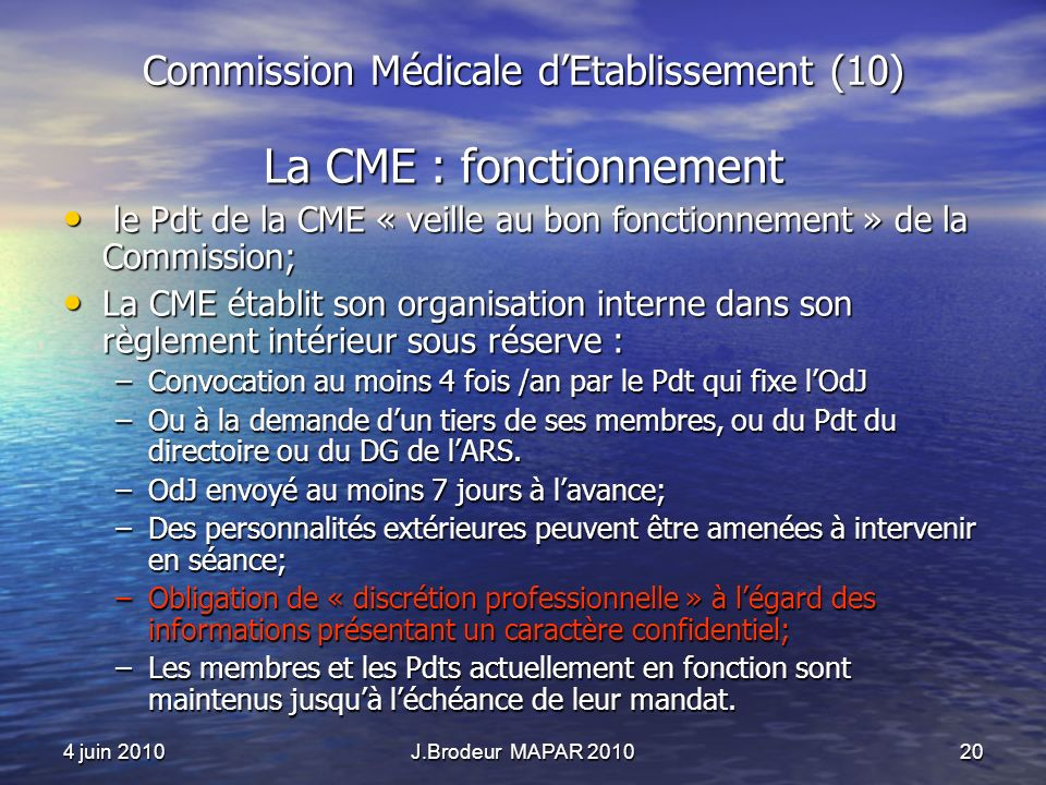 Commission Médicale d'Etablissement (10)