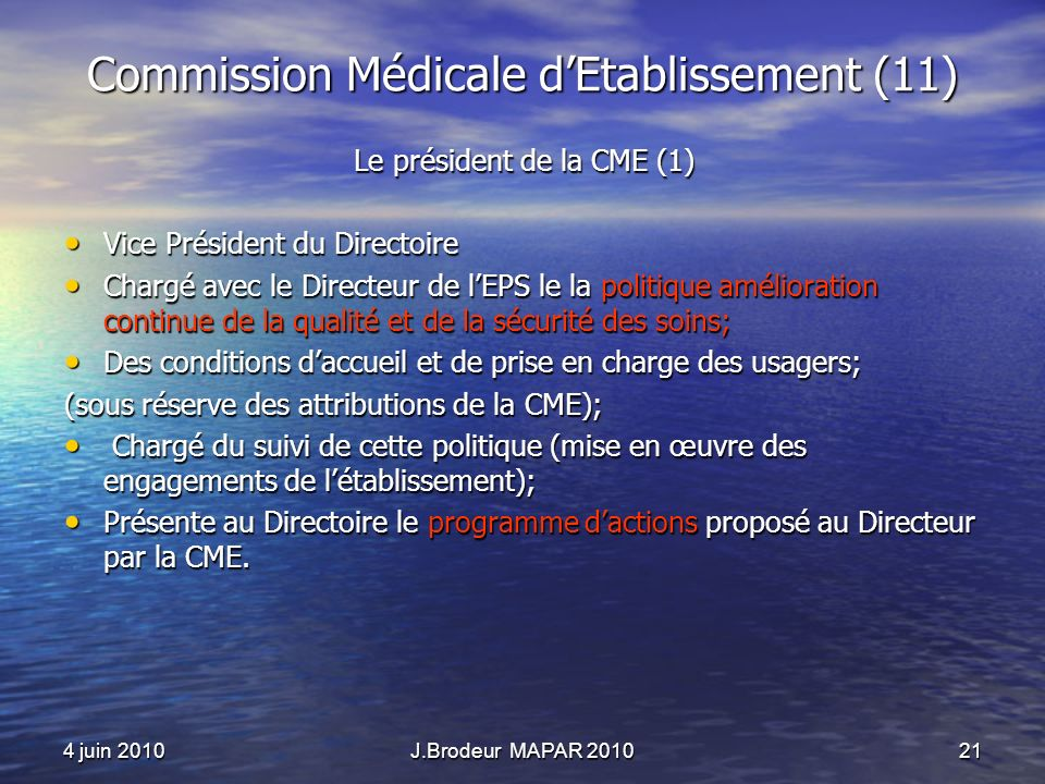 Commission Médicale d'Etablissement (11)