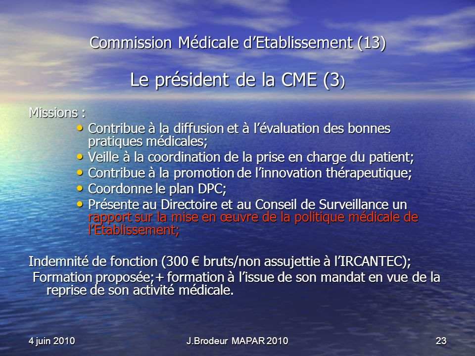 Commission Médicale d'Etablissement (13)