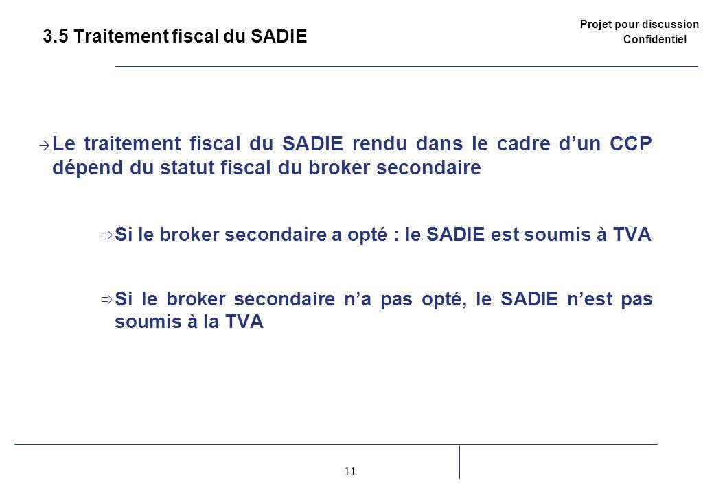 3.5 Traitement fiscal du SADIE