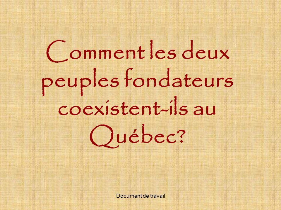 Comment les deux peuples fondateurs coexistent-ils au Québec