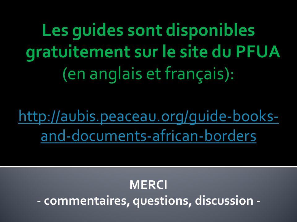 Les guides sont disponibles gratuitement sur le site du PFUA