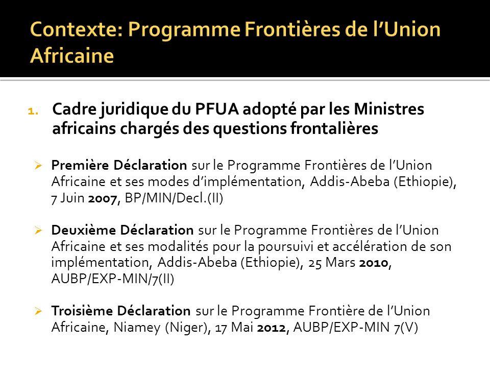 Contexte: Programme Frontières de l'Union Africaine