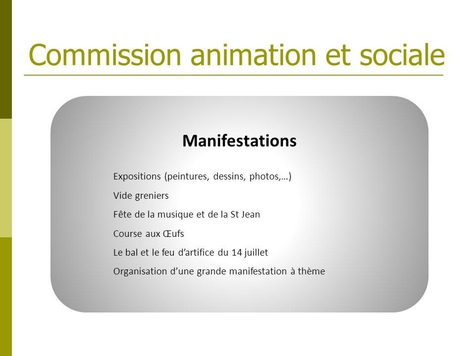 Commission animation et sociale