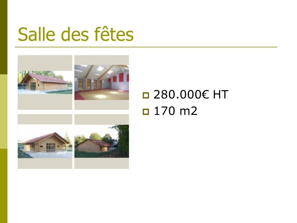 Salle des fêtes 280.000€ HT 170 m2