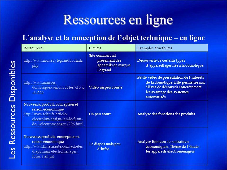 L'analyse et la conception de l'objet technique – en ligne