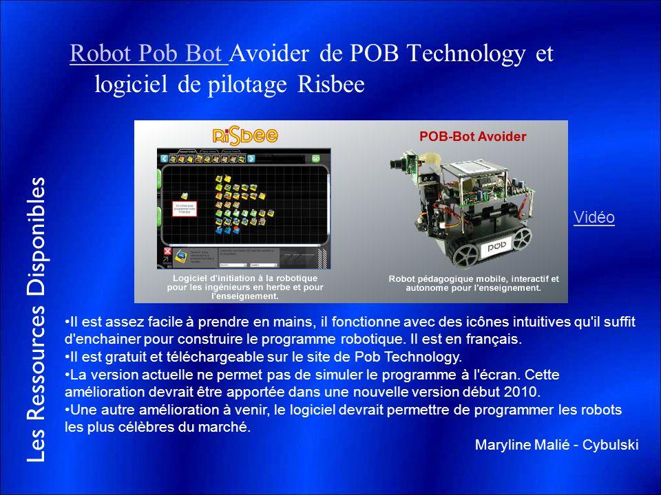 Robot Pob Bot Avoider de POB Technology et logiciel de pilotage Risbee