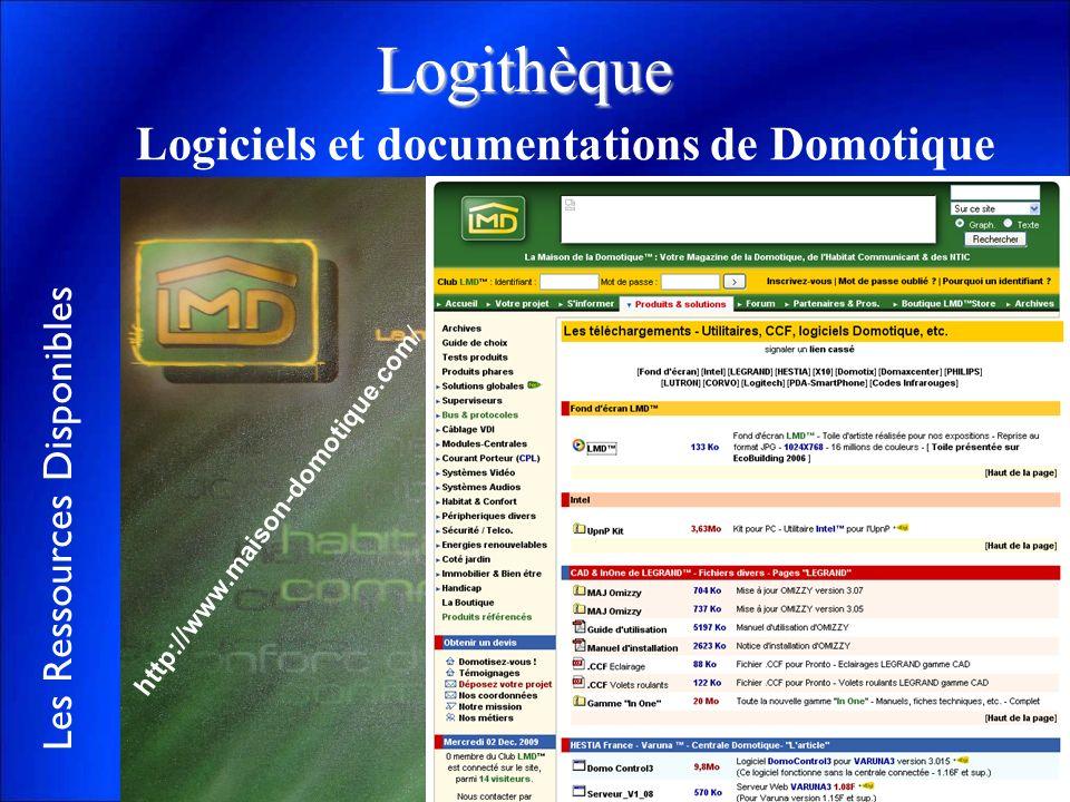 Logithèque Logiciels et documentations de Domotique