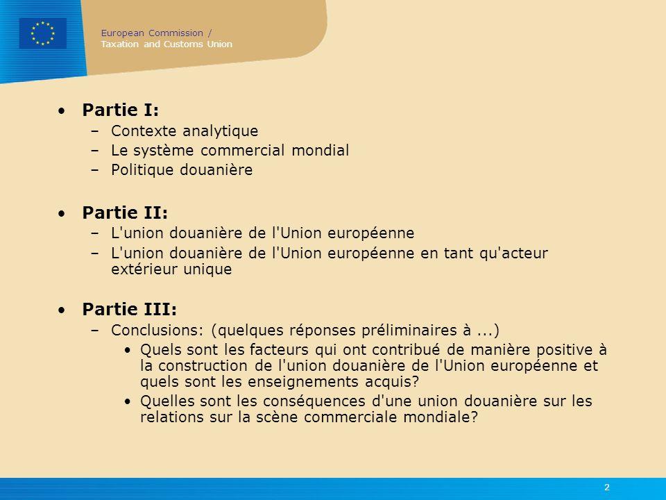 Partie I: Partie II: Partie III: Contexte analytique