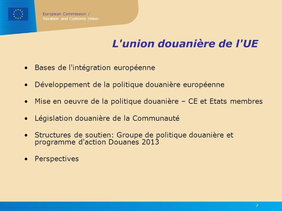 L union douanière de l UE