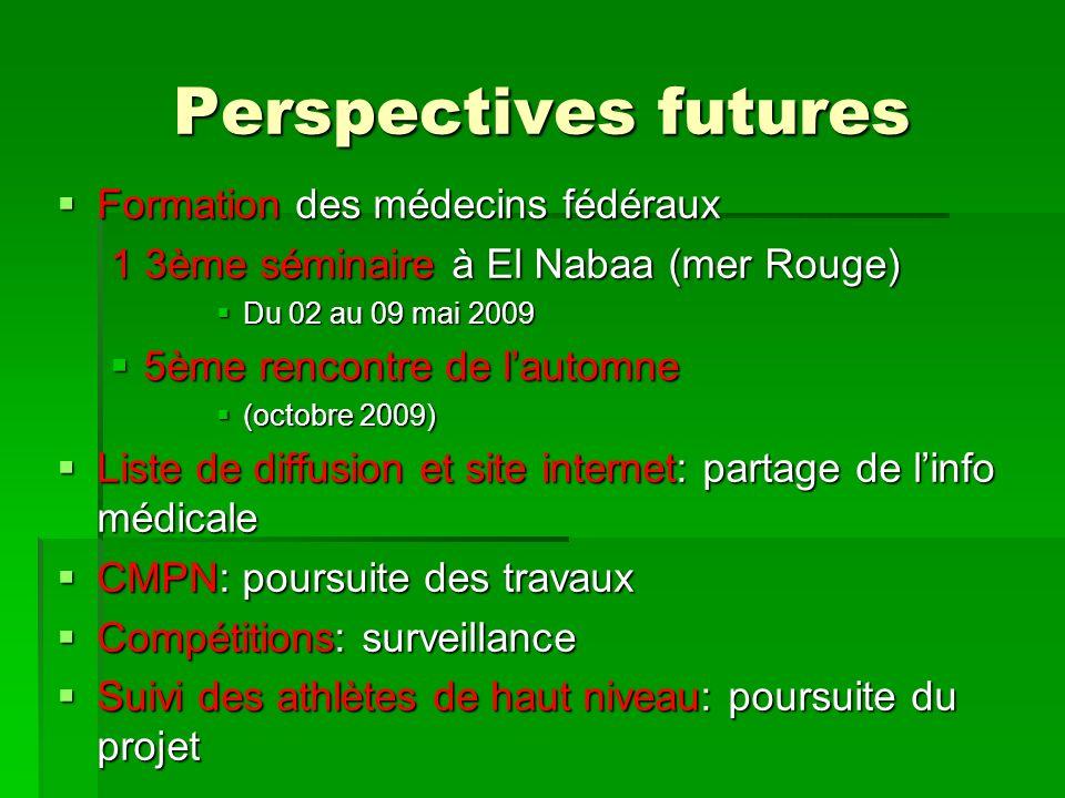 Perspectives futures Formation des médecins fédéraux