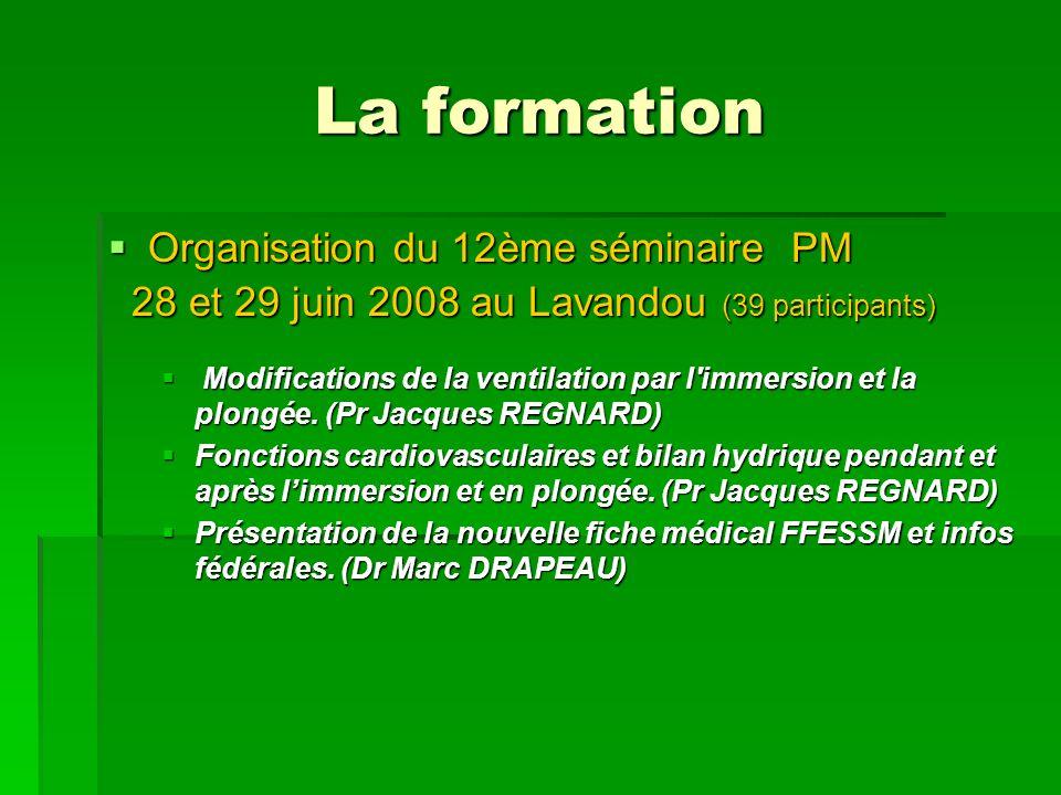 La formation Organisation du 12ème séminaire PM