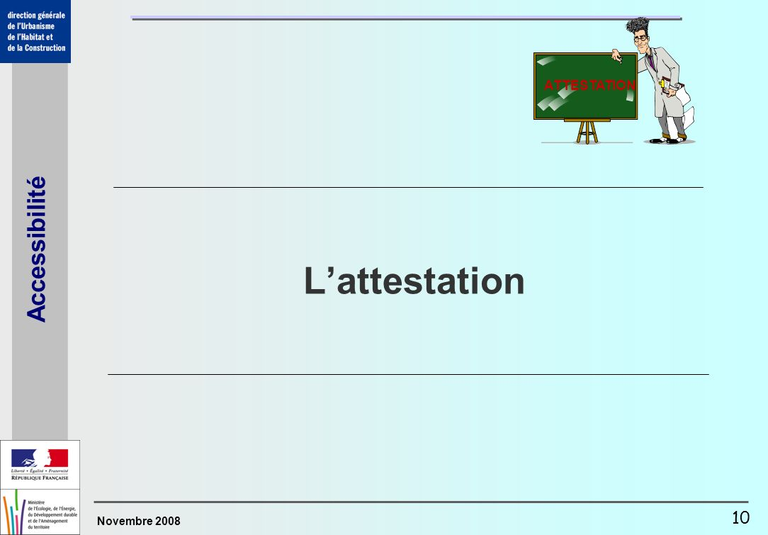 ATTESTATION L'attestation