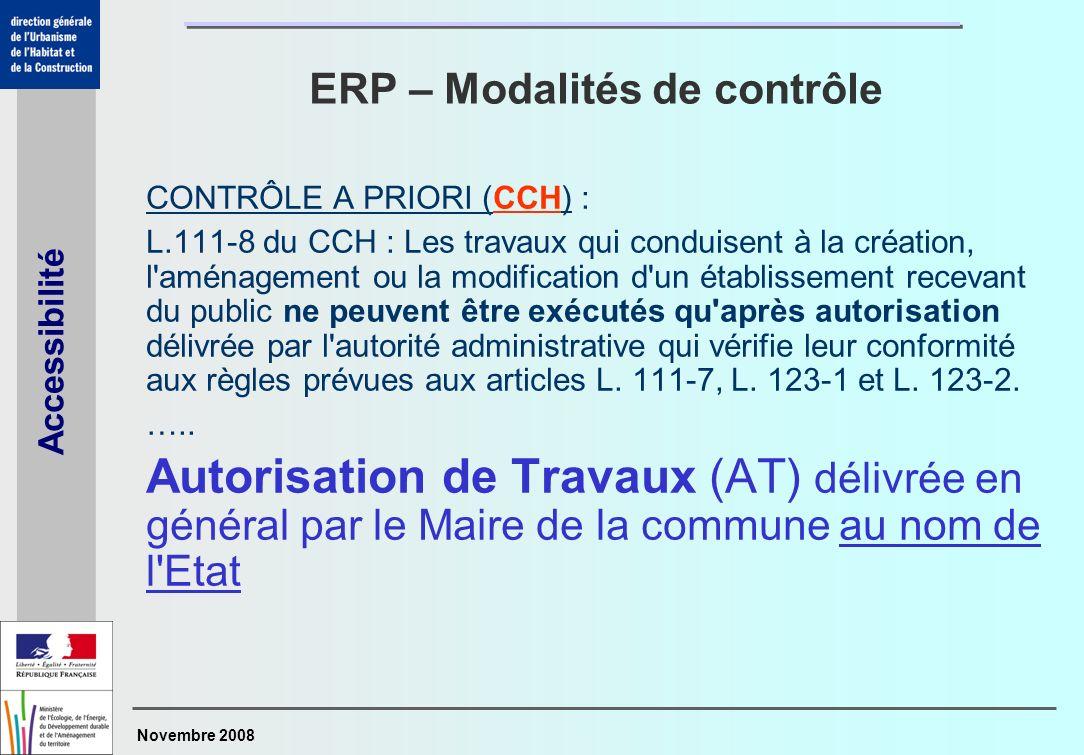 ERP – Modalités de contrôle
