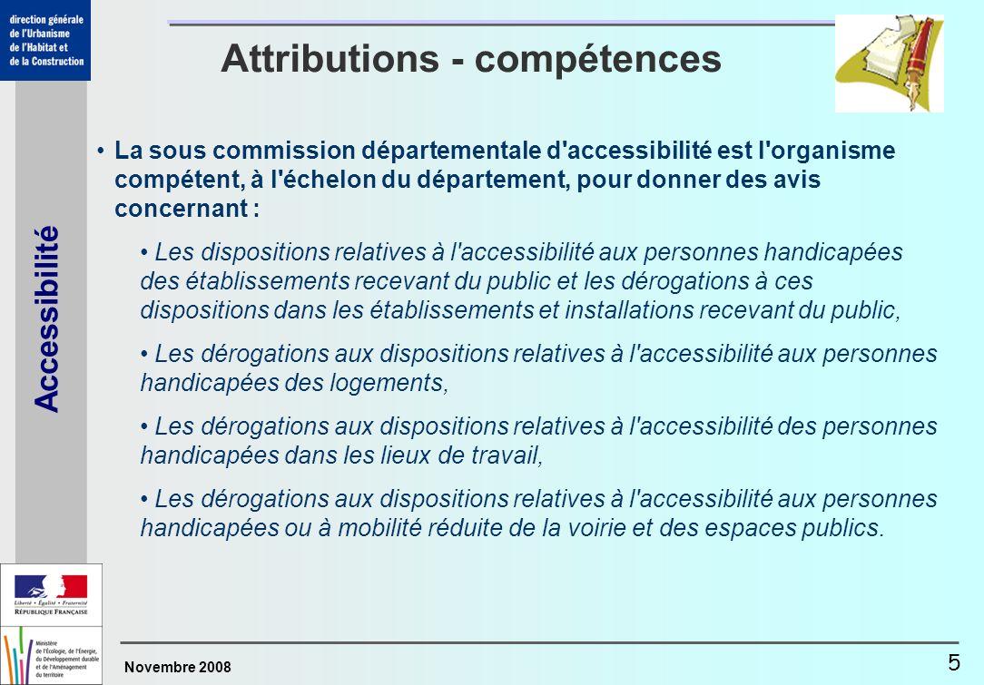 Attributions - compétences