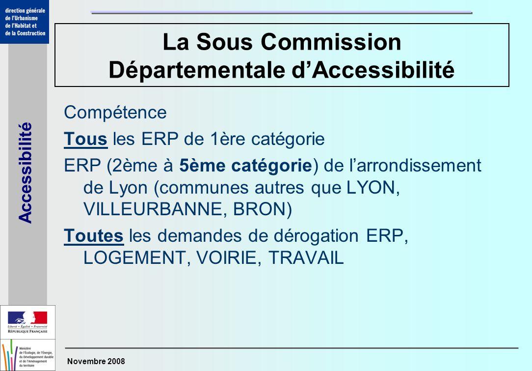 La Sous Commission Départementale d'Accessibilité