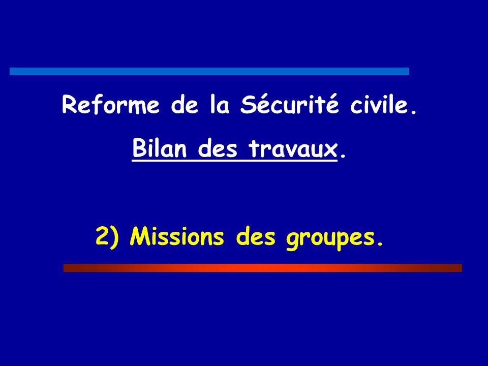 Reforme de la Sécurité civile.