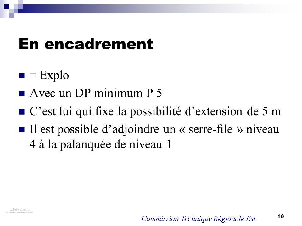 En encadrement = Explo Avec un DP minimum P 5