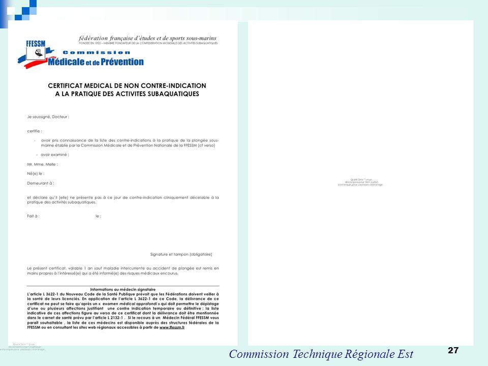 Commission Technique Régionale Est