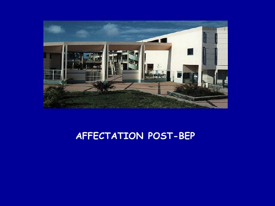 AFFECTATION POST-BEP
