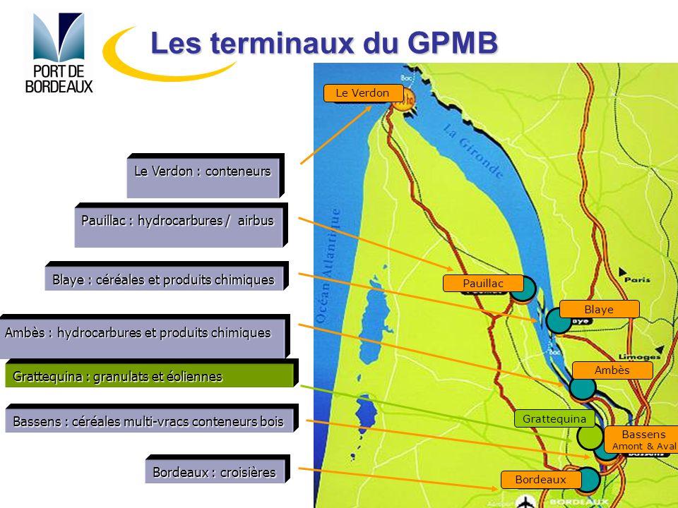 Les terminaux du GPMB Le Verdon : conteneurs