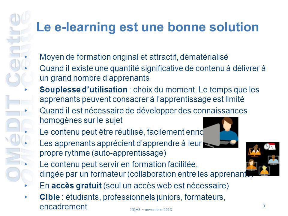 Le e-learning est une bonne solution