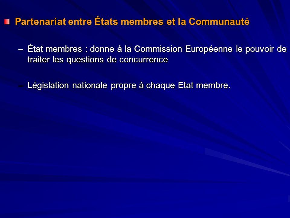 Partenariat entre États membres et la Communauté