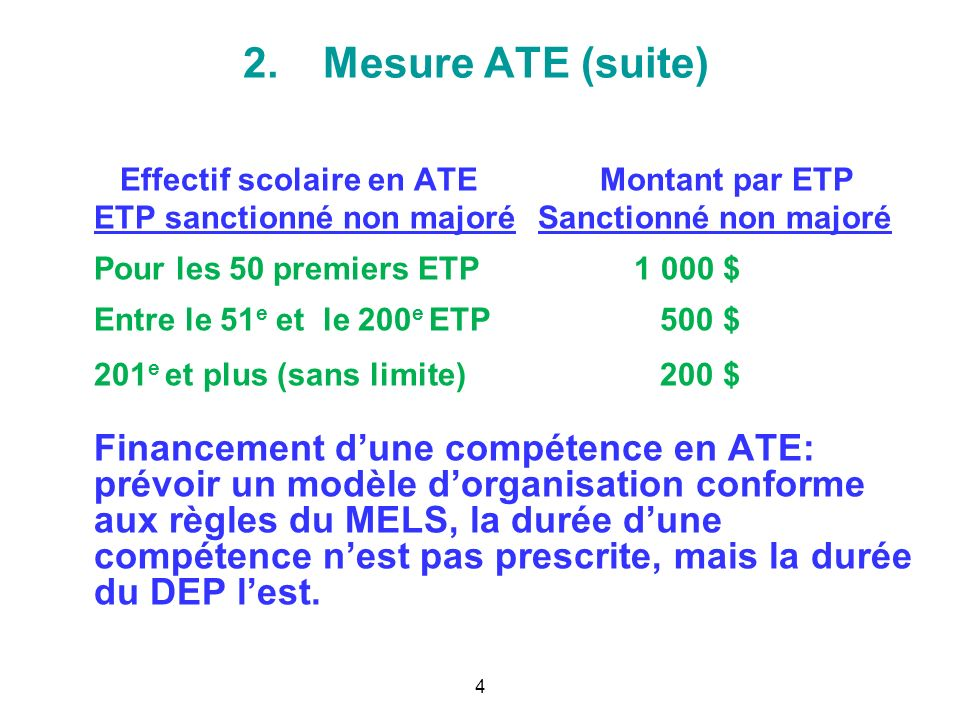 2. Mesure ATE: ajustement