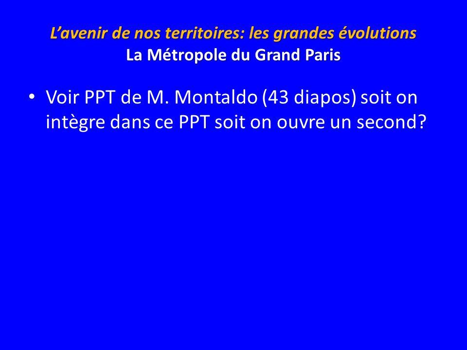 L'avenir de nos territoires: les grandes évolutions La Métropole du Grand Paris